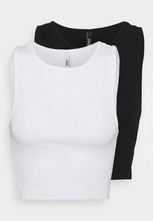 ONLKENYA CROPPED 2 PACK - Topper - black/white