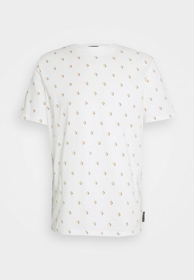 CLASSIC CREWNECK TEE - T-Shirt print - off-white/multi-coloured