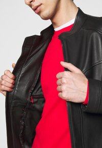HUGO - LONOS - Leather jacket - black - 4