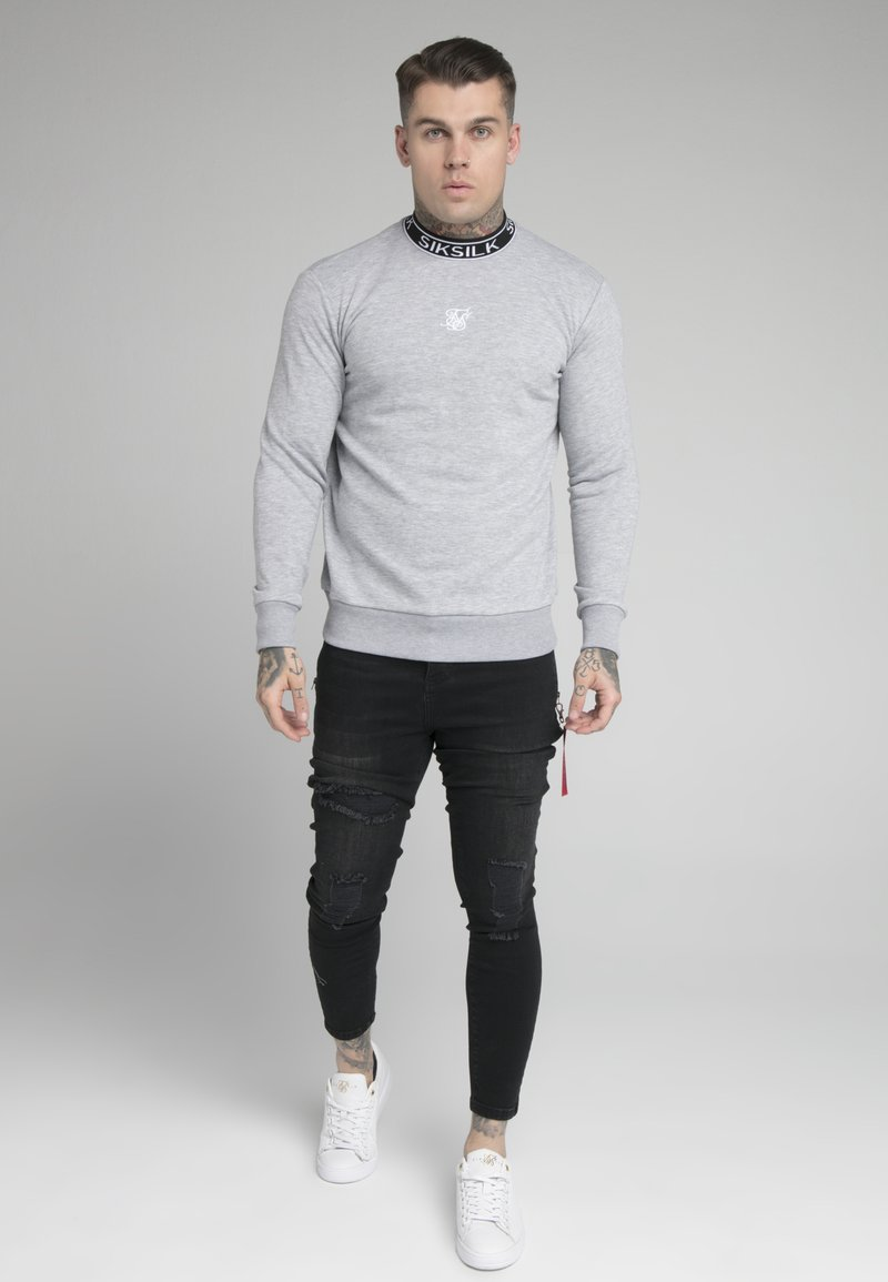 SIKSILK - ESSENTIAL HIGH NECK - Mikina - grey