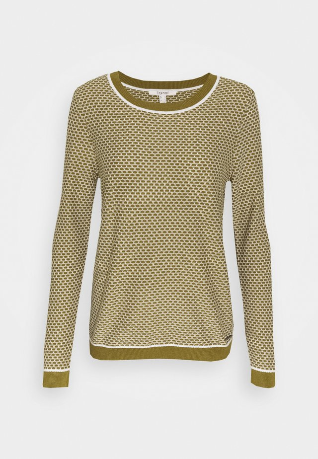 FANCYSTITCH - Strickpullover - olive