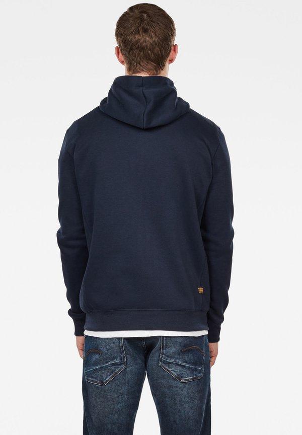 G-Star PREMIUM BASIC HOODED ZIP - Bluza rozpinana - sartho blue/granatowy Odzież Męska WAVN