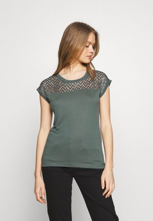 ONLNEW NICOLE LIFE - Print T-shirt - balsam green