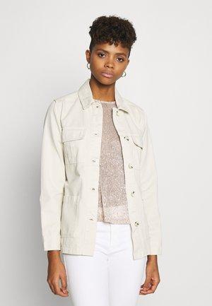 BELTED TWILL JACKET - Denim jacket - ivory