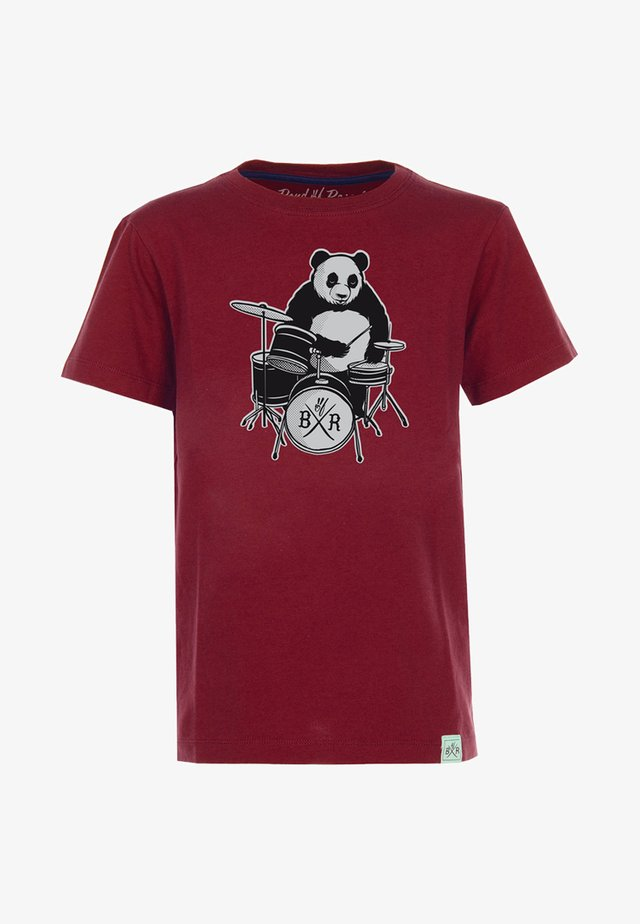 PANDA - Print T-shirt - brick red