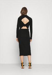 Weekday - BEGONIA CUTOUT BACK DRESS - Jersey dress - black - 2