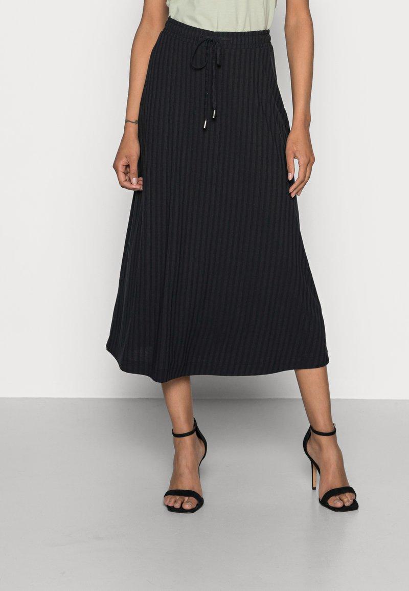 Esprit - SKIRT - Áčková sukně - black
