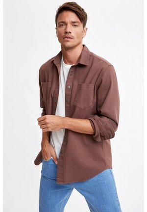 OVERSHIRT - Camisa - bordeaux