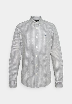 REGULAR FIT STRIPED OXFORD - Shirt - grey