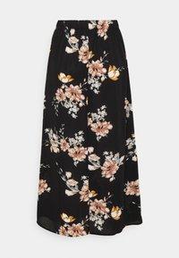 ONLY - ONLNOVA LUX BUTTON SKIRT - A-line skirt - black - 1