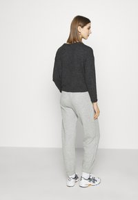 Topshop - QUILTED JOGGER - Tracksuit bottoms - grey - 2