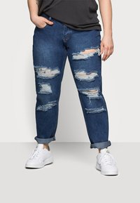 Glamorous Curve - RIPPED CECE - Relaxed fit jeans - dark blue wash - 0
