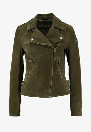 TAXI DRIVER - Leather jacket - olive