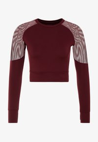 South Beach - LONG SLEEVE INSERT CROP  - Pitkähihainen paita - burgundy - 4