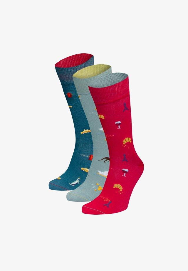 3PACK - Socks - grün,blau,rot