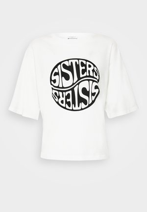 SISTY - Print T-shirt - blanc