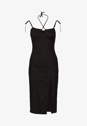 MIDI CAMI DRESS WITH TIE - Vapaa-ajan mekko - black