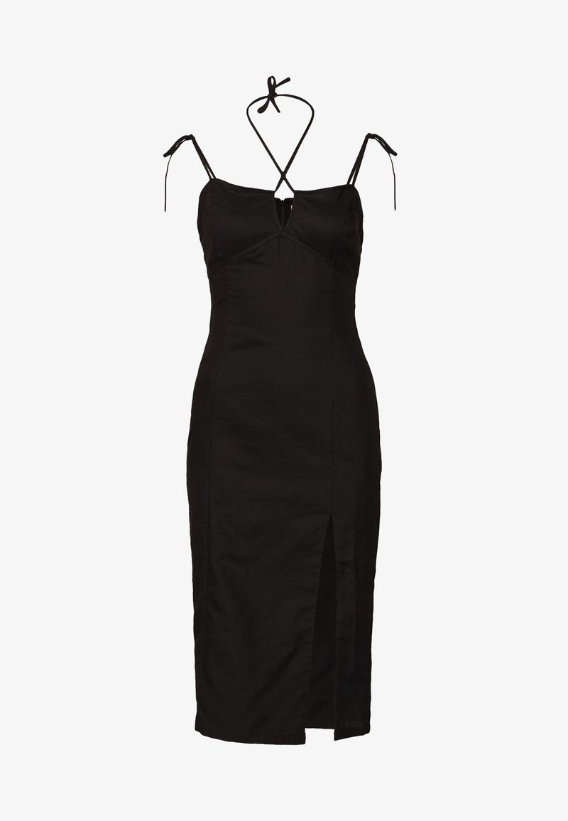 Glamorous - MIDI CAMI DRESS WITH TIE - Day dress - black