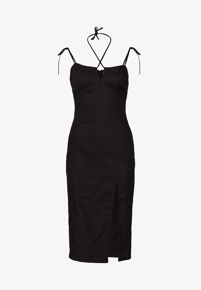 Glamorous - MIDI CAMI DRESS WITH TIE - Denní šaty - black
