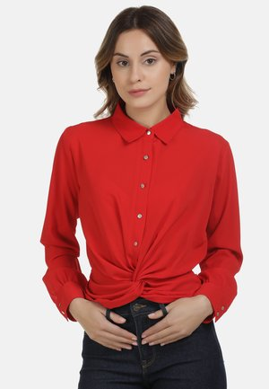 DREIMASTER BLUSE - Button-down blouse - rot