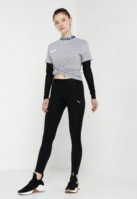 Hummel - GO WOMAN - T-shirts med print - grey melange - 1