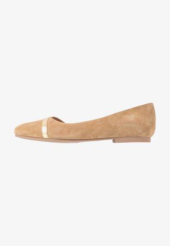 LEATHER  - Ballet pumps - beige