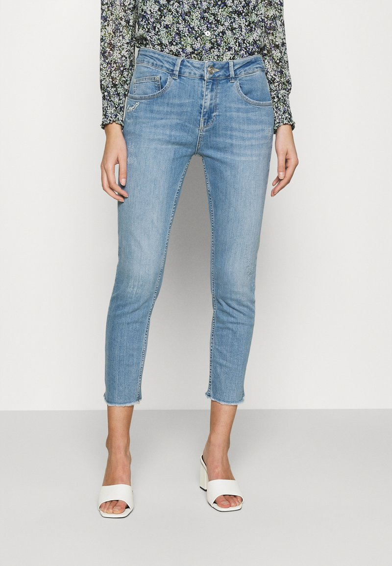 Mos Mosh - BRADFORD LETTER JEANS - Jeans slim fit - light blue