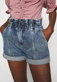 Abercrombie & Fitch - Denim shorts - stone-blue denim - 5
