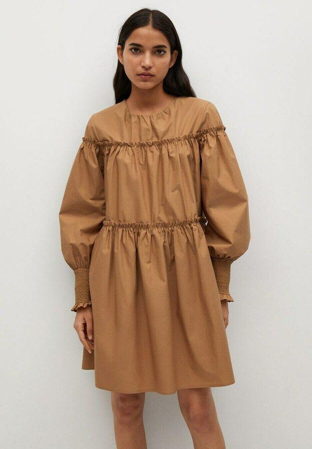 LIN - Sukienka letnia - mittelbraun