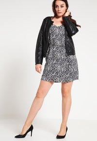 Zizzi - IMITATED JACKET - Faux leather jacket - black - 1