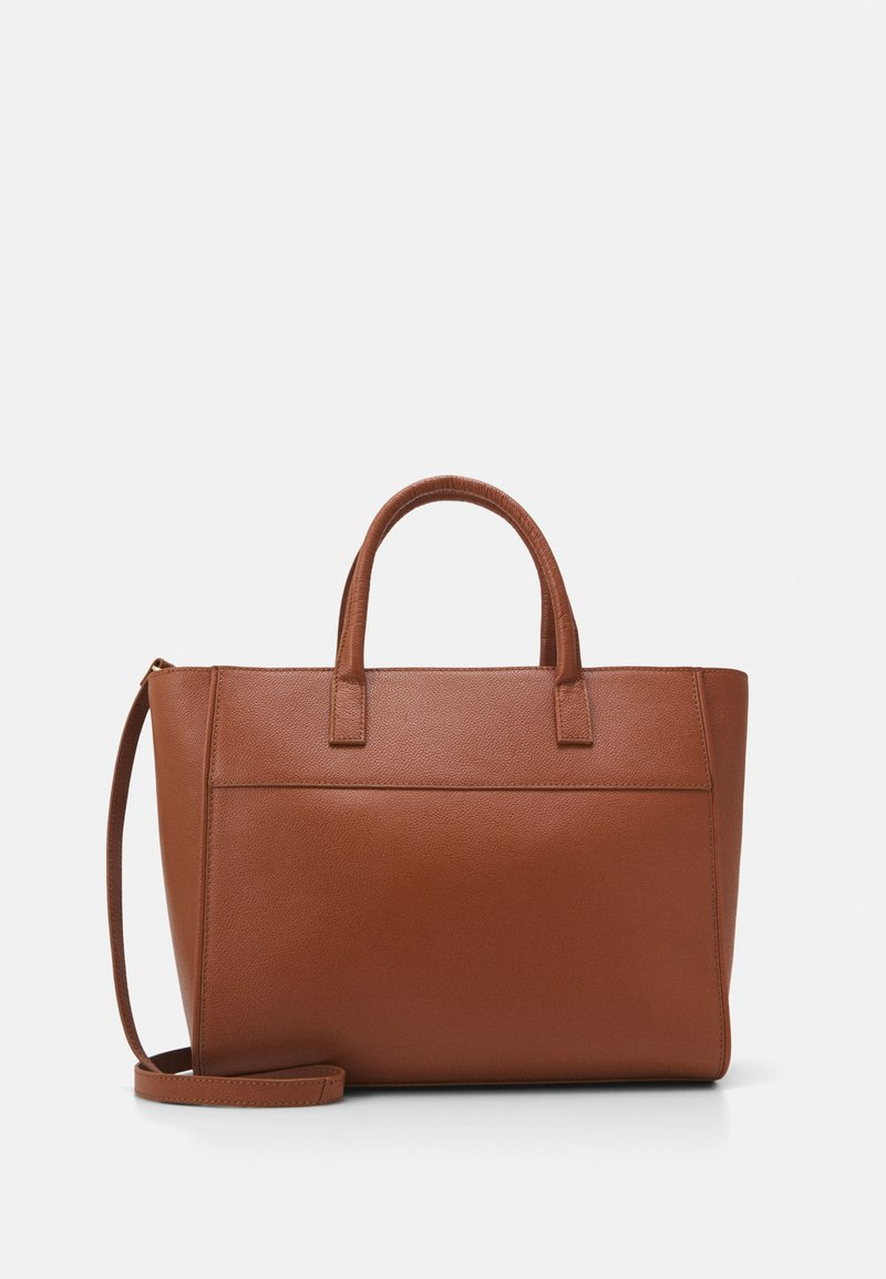 Zign - LEATHER - Handbag - cognac