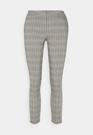 JESSICA CHECK BENGALINE - Pantalon classique - grey