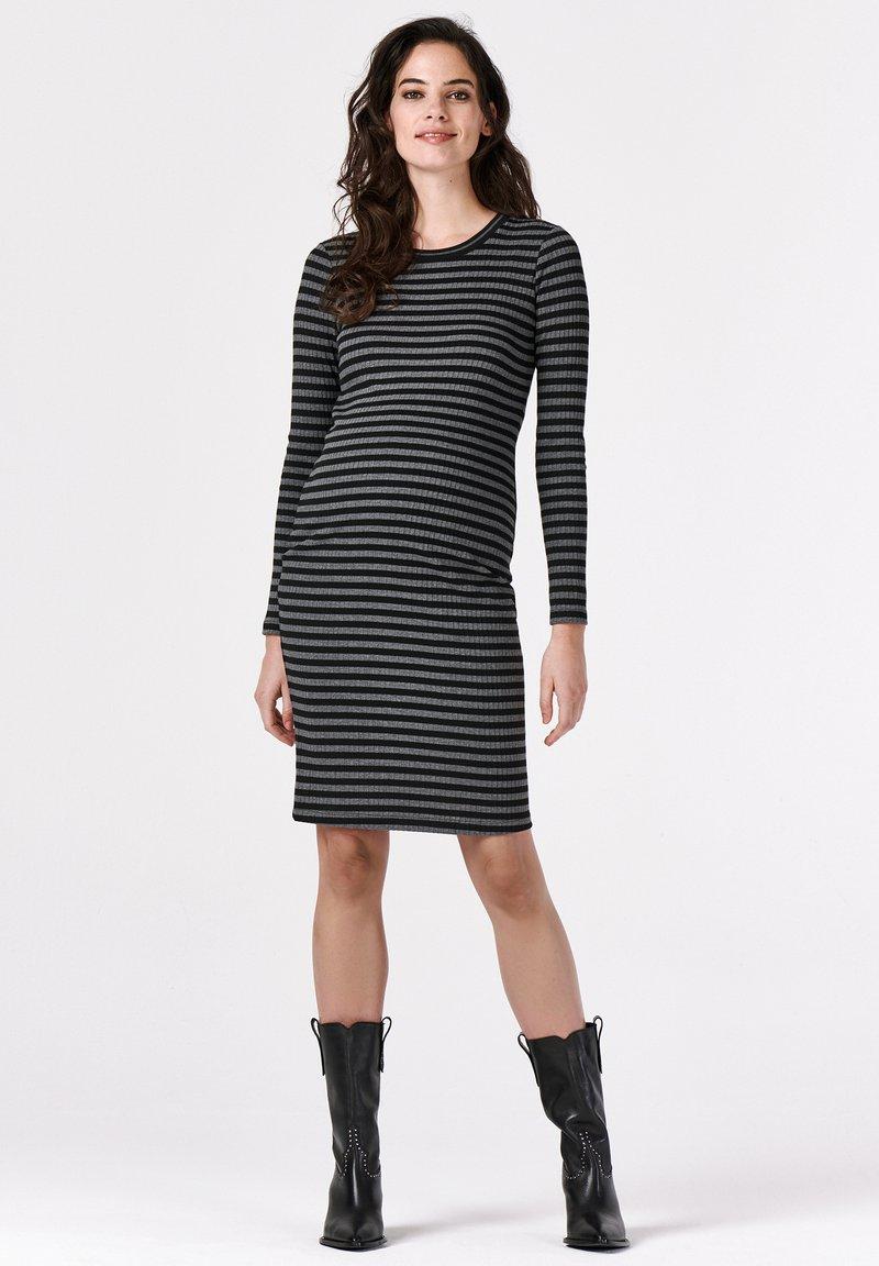 Supermom - STRIPE - Jersey dress - black