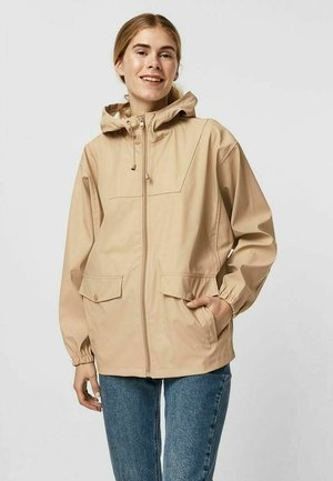 Zip-up hoodie - beige mottled beige