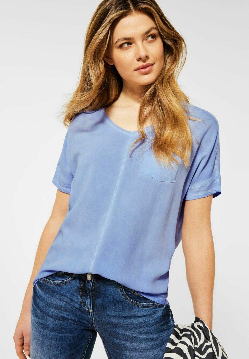 Cecil - Basic T-shirt - blau