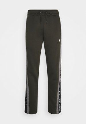 SPORT HEATHER STRIPE - Tracksuit bottoms - olive