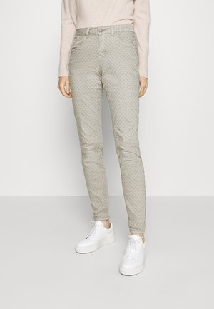 ANNIE PRINTED COCO FIT - Trousers - dusty grey
