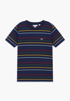 TEE TURTLE NECK - Print T-shirt - marine/multicolor