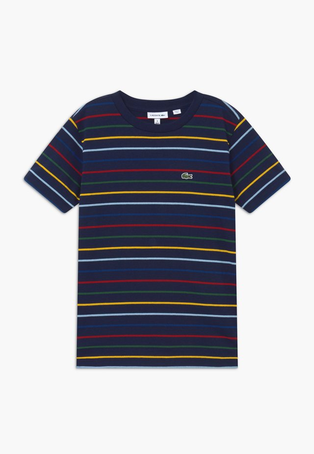 TEE TURTLE NECK - T-shirt imprimé - marine/multicolor
