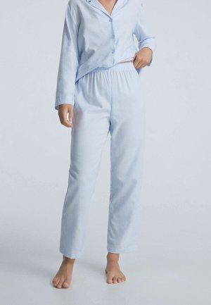 MIT STREIFEN  - Pyjama bottoms - dark blue