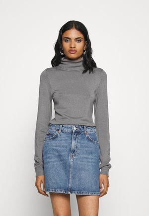 BASIC- TURTLE NECK JUMPER - Strikkegenser - storm front