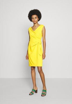 LUXE TECH DRESS - Shift dress - true marigold