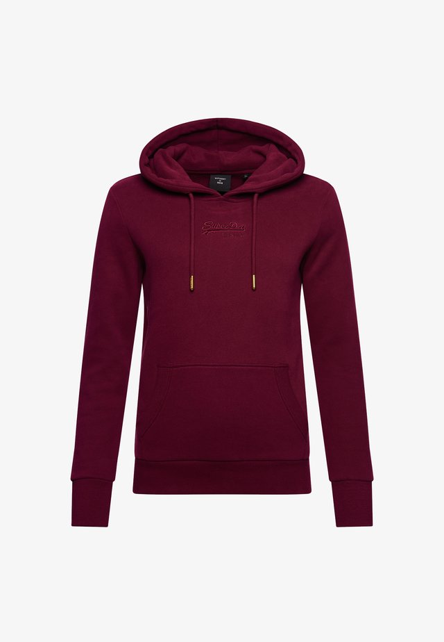 VINTAGE LOGO TONAL EMBROIDERED - Hoodie - deep port