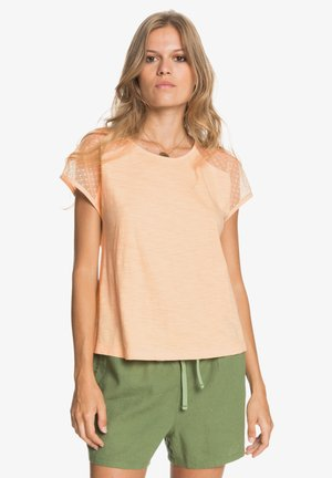 CRYSTAL WATER - Print T-shirt - apricot ice