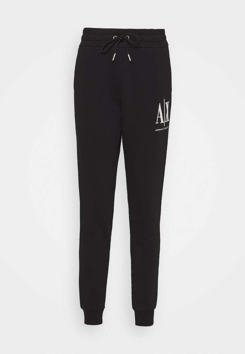 Armani Exchange - PANTALONI - Tracksuit bottoms - black