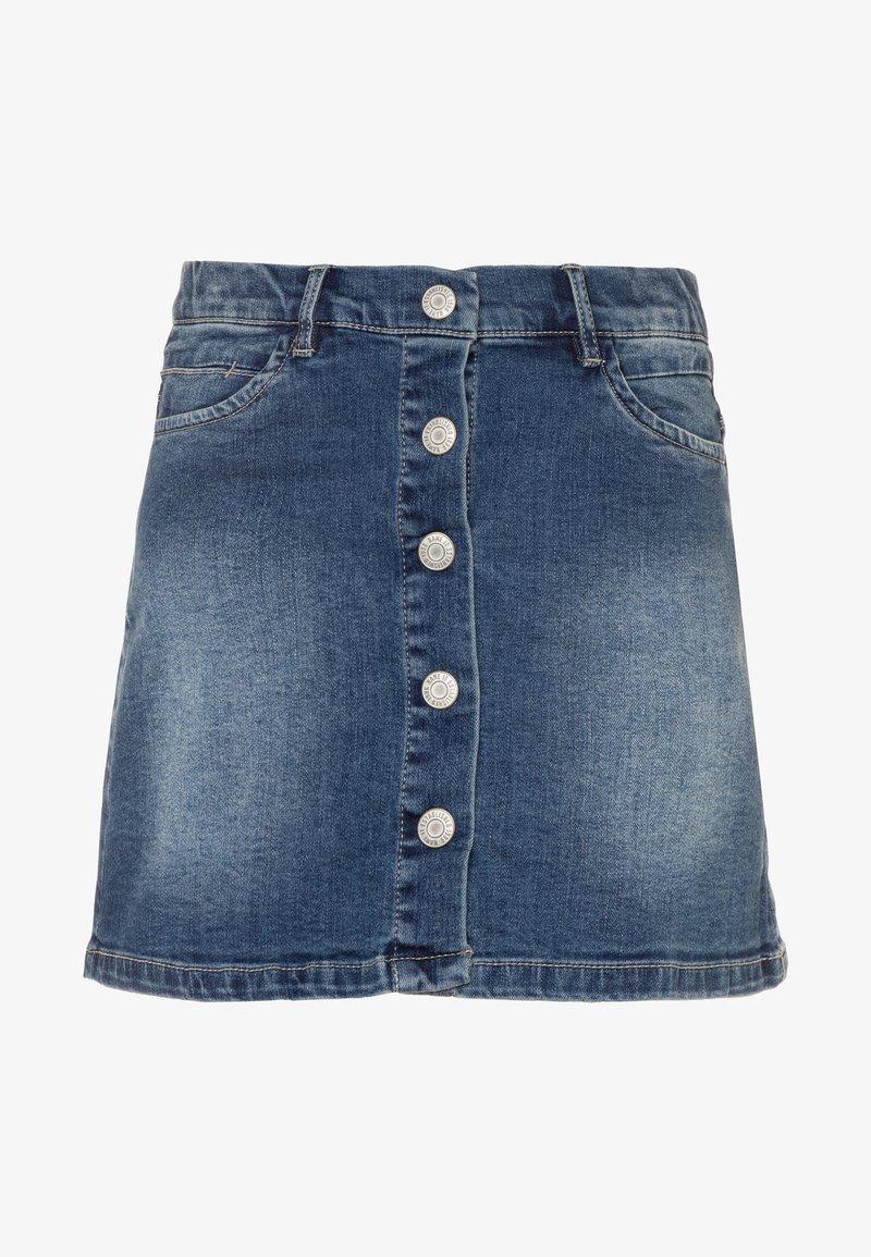 Name it - NKFTEGANI A-SHAPE SKIRT - Denim skirt - medium blue denim