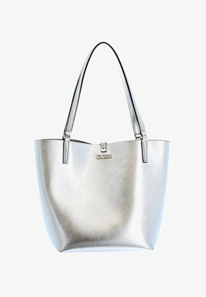 ALBY  - Tote bag - silver / blush