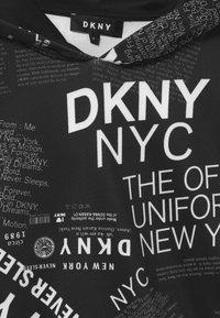 DKNY - HOODED  - Long sleeved top - black/white - 2