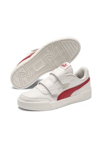 Puma - Touch-strap shoes - w.white-h.risk red-p.gold - 3