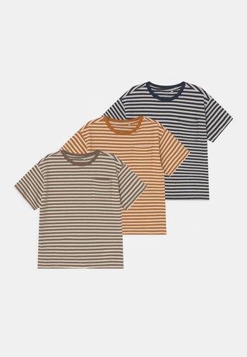 NMMLOUIS 3 PACK - T-shirt print - dark sapphire